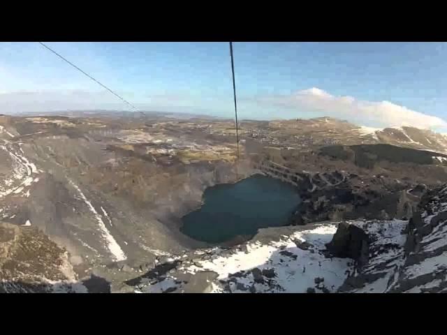 The northern hemisphere's longest zip wire in North Wales
