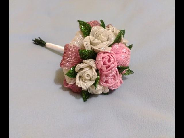 Свадебный букет из бисера Часть 2 Wedding bouquet of 2