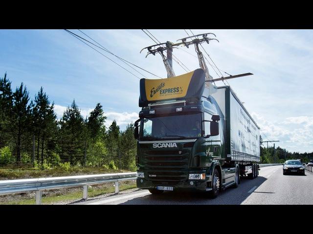 В Швеции открыли первое электрошоссе для большегрузов Втачке мир автомобилей