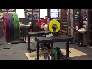 Alyssa Sulay Jerk 107kg at 63kg Bodyweight