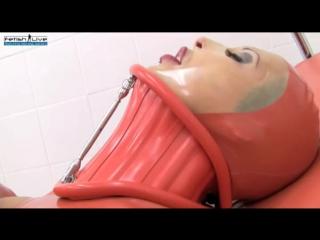 Fetish live - latex neck corset orgasms