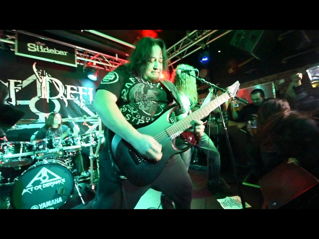 Act of Defiance with Dino Cazares of Fear Factory Ace of Spades live at the Slidebar