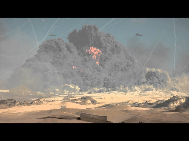 Executor class Star Dreadnought Ravager crash on Jakku