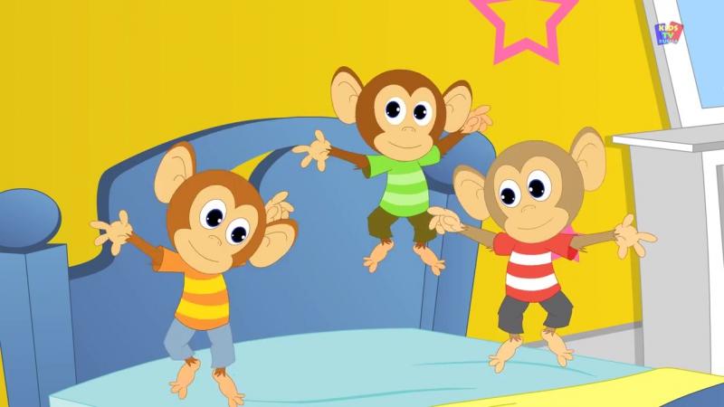 Песенки Пять маленьких обезьянок