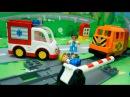 Мультики для детей Игры на железной дороге.Скорая помощь и Пожарная машина в вид