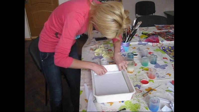 Эбру рисование на воде с Машкой рисовашкой