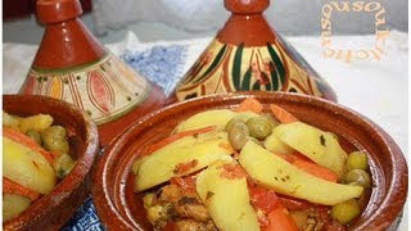 Tajine Poulet P.de Terre et OlivesChicken Tagine with Potato,Olives -Sousoukitchen