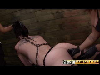 Barbarian girl gets punished by two strap-on [hd 1080, bdsm, group sex]