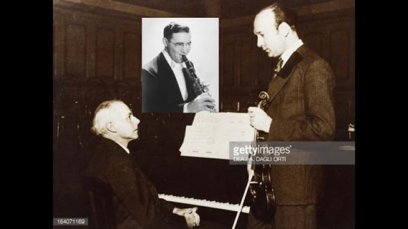 Bartok Contrasts For Violin Clarinet Piano Szigeti Goodman Bartok
