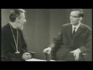 Выступление протоиерея Евграфа Ковалевского на швейцарском телевидении в 1960 г.