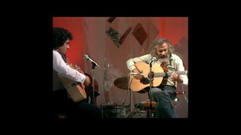 Georges Moustaki et Enrico Macias Le métèque et improvisation à la guitare live