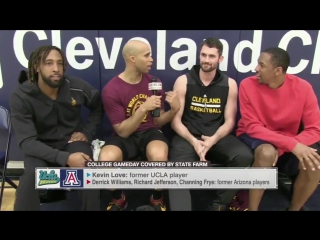 Kevin love vs williams, frye and jefferson