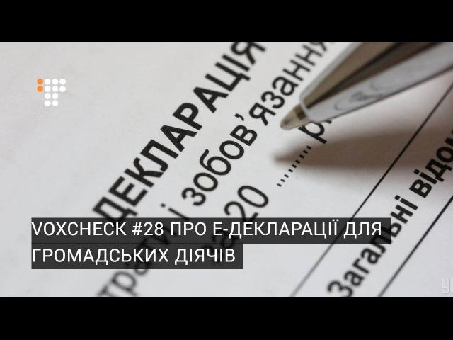 VoxCheck 28 про е-декларації для громадських діячів