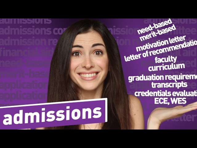 ENGLISH VOCABULARY FOR ADMISSIONS: financial aid, requirements