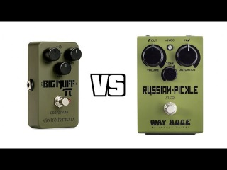 Electro-Harmonix Green Russian Big Muff Reissue vs. Way Huge Russian Pickle