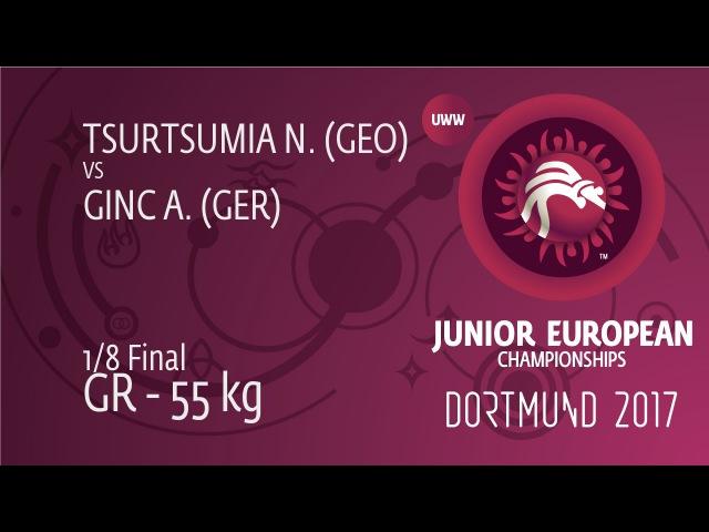 1 8 GR 55 kg: N. TSURTSUMIA GEO df. A. GINC GER 6 1
