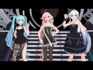 IA, Miku and Haku {MMD} Nee!!