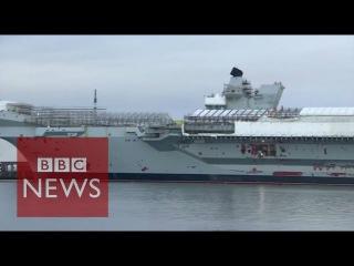 Одним глазком на новый Британский авианосец королевского флота.