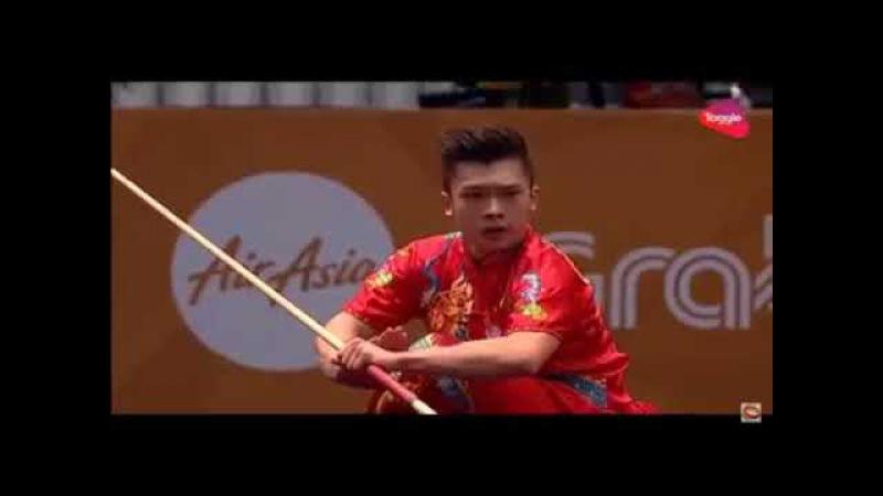 14 ЧМ по спортивному ушу 2017 |SEA GAMES 2017|mens daoshu and gunshu| Jowen Lim