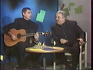 Сергей Коржуков (Лесоповал) и Михаил Танич на телевидении
