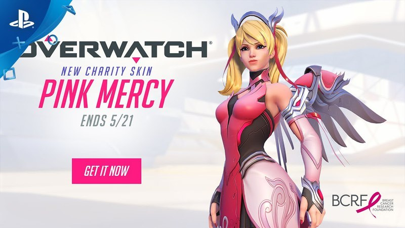 Overwatch Pink Mercy Support the BCRF PS4
