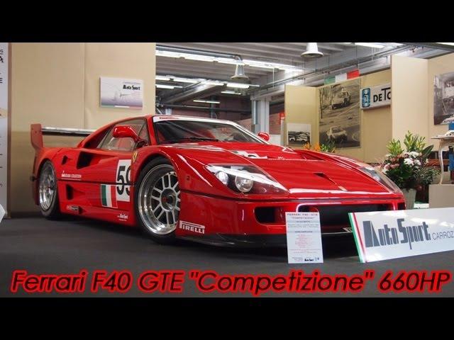 Ferrari F40 GTE Competizione 660HP Awesome Walkaround