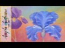 Iris Flower Acrylic Painting Instruction How to Paint Irises Angelooney Floral