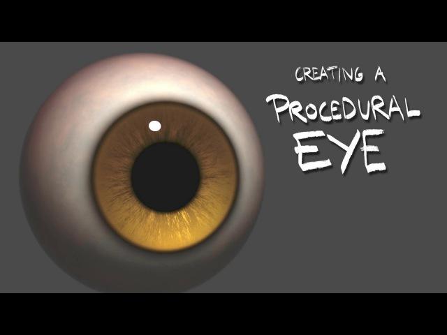 Creating a Procedural Eye in Maya (Trailer - LINK IN DESCRIPTION)