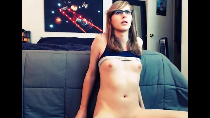Super cute nerdy cam TGirl reveals her