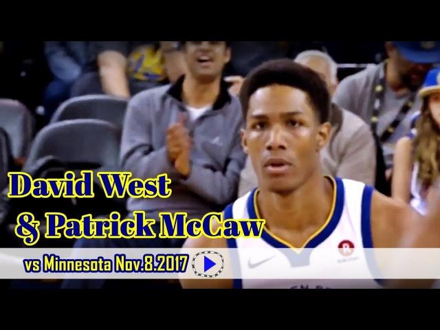 David West Patrick McCaw vs Timberwolves 09 11 17