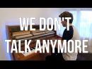 Charlie Puth Selena Gomez - We Don't Talk Anymore (Piano cover) - Peter Buka