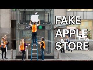 Waiting in Line for the iPhone X at a FAKE Apple Store