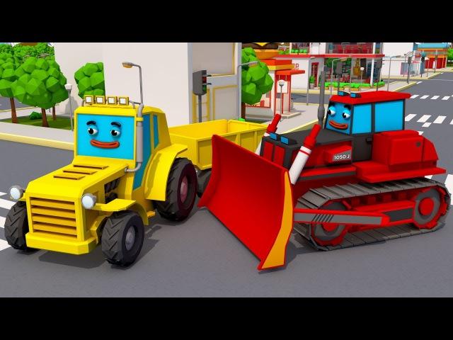 Tractors Fairy for kids Traktorki i Poszukiwanie Przyczepa Zabawki i Samochódy dla dzieci