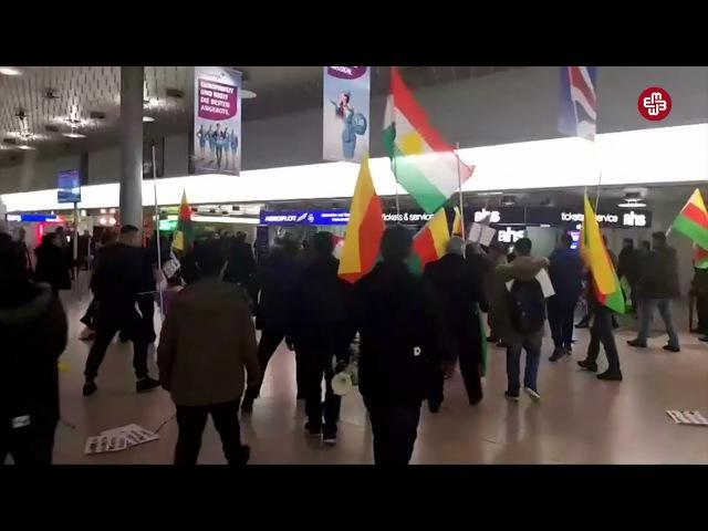 Almaniyada kürdlərlə türklər arasında dava düşüb