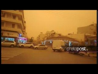 Крит накрыла африканская пыль