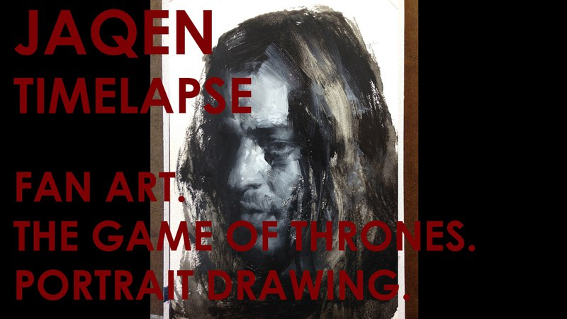 Fan Art Jaqen Game of Thrones Oil Painting by Zin Lim