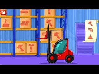 Мультфильм Маленький строитель Серия 1 Веселый погрузчик и грузовик