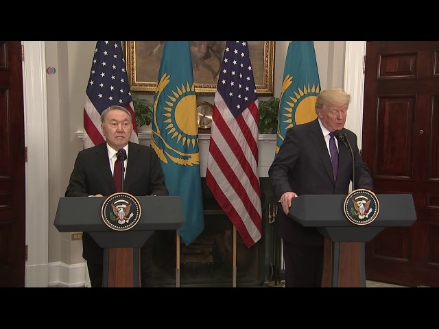 Nazarbayev Trump White House AQSh Qozog'iston
