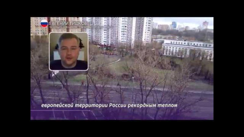 Аномально теплая погода в России