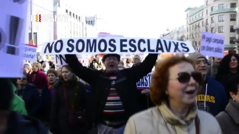 Cientos de personas marchan en Madrid contra corrupción política