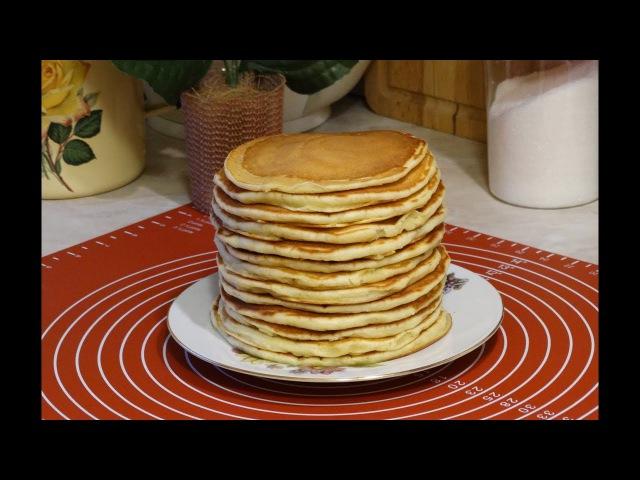 Блинчики на Кефире Простокваше Толстые Блины на Простокваше Мамин Рецепт Pancakes on yogurt