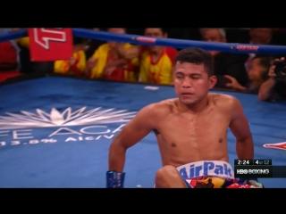 Wisaksil Wangek vs Roman Gonzalez knock down