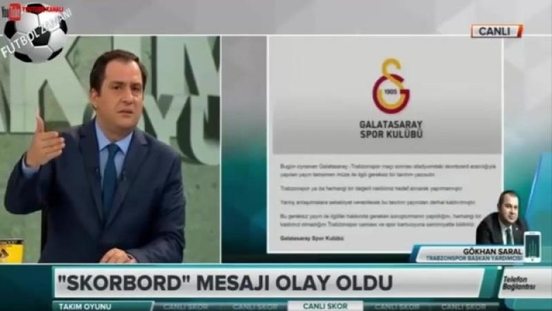 Galatasaray 2 1 Trabzonspor maçında Skorbord Skandalı 1 Nisan 2018