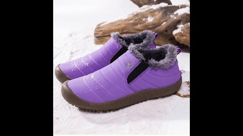 Unisex Big Size US6 US13 Waterproof Fur Lining Snow Boots