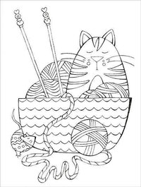 yarn coloring pages - 670×670