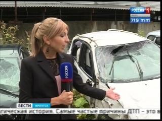 Форд с аварии на Иркутном мосту и другие обитатели штрафстоянки. В Иркутске открылась выставка разбитых авто