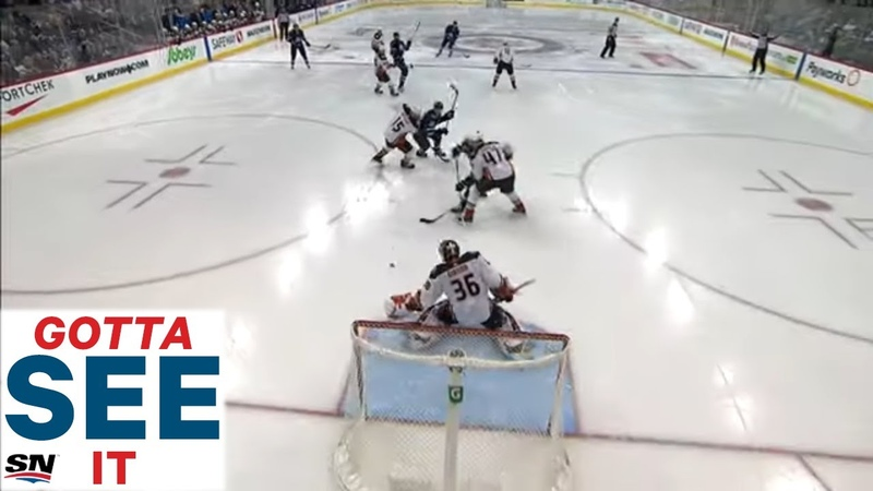 GOTTA SEE IT John Gibson Stymies Jets With Unreal Awkward Glove Save