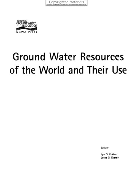 Ground-Water-Resources-of-the-World-and-Their-Use