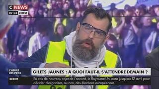 : «Pascal Praud, soyez mesuré, je ne suis pas un terroriste» (CNEWS, 22/03/19, 9h36)