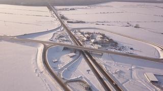 Мосты через реку Волхов Иссад - Юшково Аэросъемка 4K